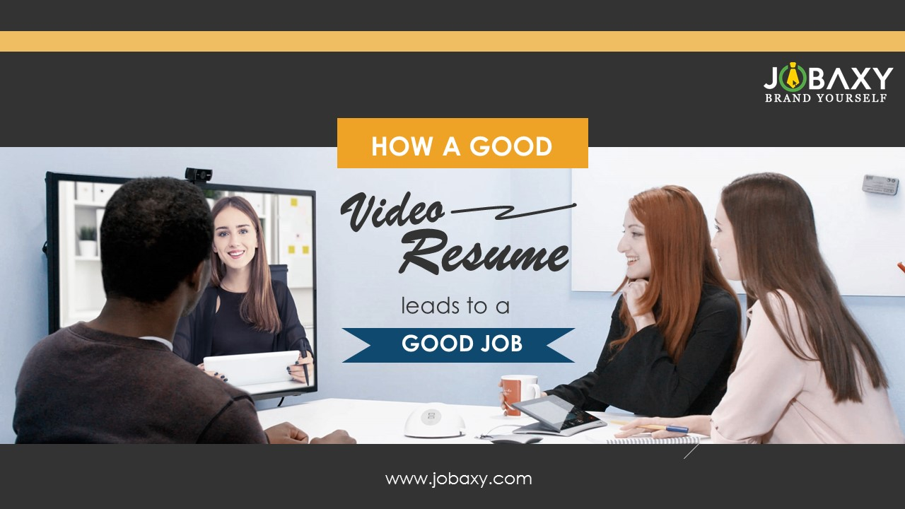 How A Good Video Resume Leads To A Good Job